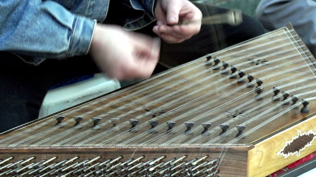 hd: iranian musical instrument psaltery - iran stock videos and b-roll footage