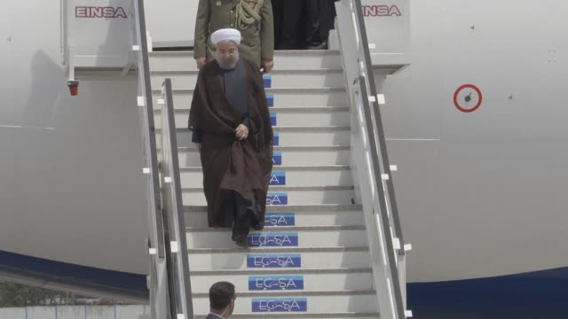 iranian president hassan rouhani arrived in cuba monday for a visit in which he was expected to meet counterpart raul castro and his older brother... - brother stock videos & royalty-free footage