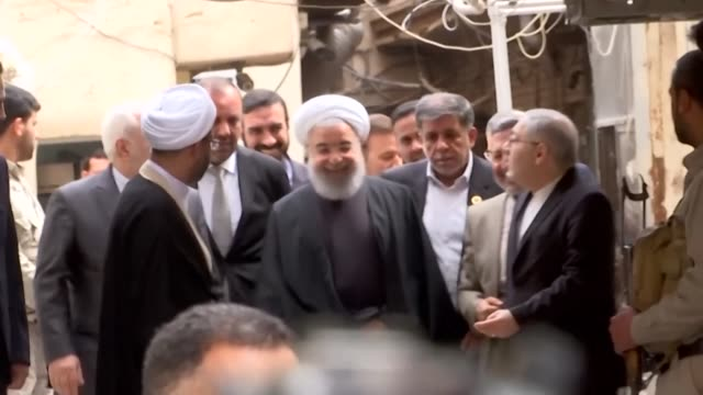 iranian president hassan rouhani meets grand ayatollah ali sistani and other top shiite clerics in the first encounter between an iranian president... - najaf stock videos & royalty-free footage