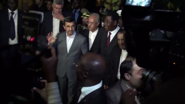 iranian president mahmoud ahmadinejad on monday defended his countrys controversial nuclear programme while on a tour of west africa calling it... - benin stock videos and b-roll footage
