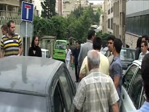 iranian protesters aggressively push secret police officer away during demonstration against results of presidential elections tehran 13 june 2009 - 2009 stock videos & royalty-free footage