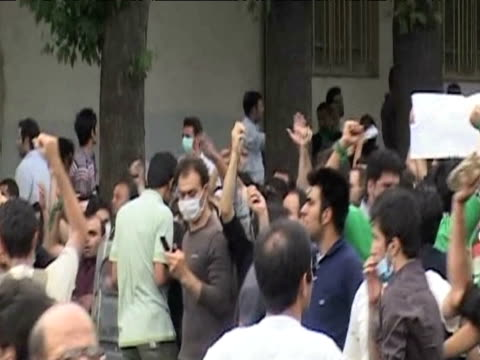 iranian protesters demonstrating against results of presidential elections tehran 13 june 2009 - 2009 stock videos & royalty-free footage