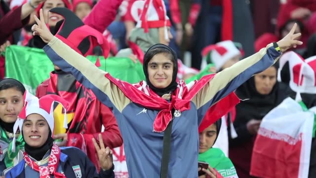 iranian women attend the asian football champions league finals in a rare occurrence on saturday evening in tehran to watch the local side persepolis... - occurrence stock videos & royalty-free footage