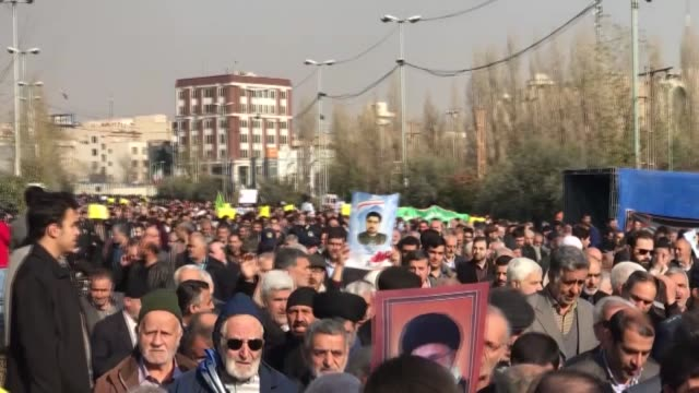 iranians held multiple rallies across the country on january 05 2017 to condemn the us administration's support for recent antigovernment protests... - mashhad stock videos & royalty-free footage