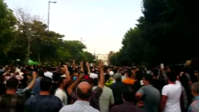 iranians living in tabriz on saturday, july 24, took to the streets to show solidarity with the people suffering from water shortages in the... - water stock videos & royalty-free footage