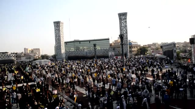 iranians on thursday, sep. 10, gathered in central tehran in a protest against sacrilegious cartoons by french magazine charlie hebdo that are... - infamous stock videos & royalty-free footage