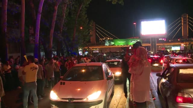iranians poured onto the streets of tehran after the ramadan fast ended at sundown tuesday to celebrate the historic nuclear deal agreed earlier with... - tehran stock videos & royalty-free footage