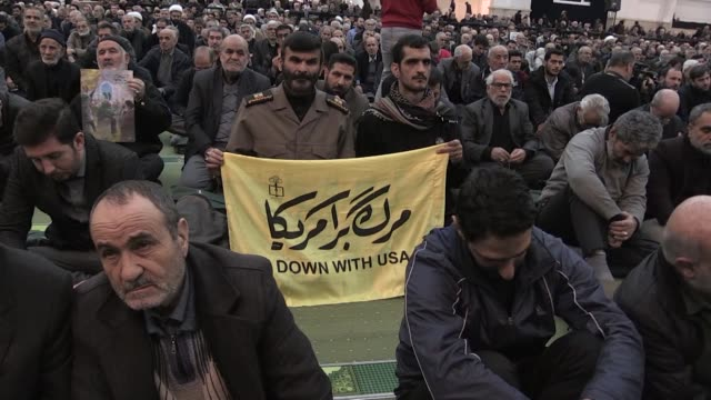 iranians protested against the killing of qasem soleimani during the first friday prayers since the country's top general was killed in a us drone... - mosque stock videos & royalty-free footage