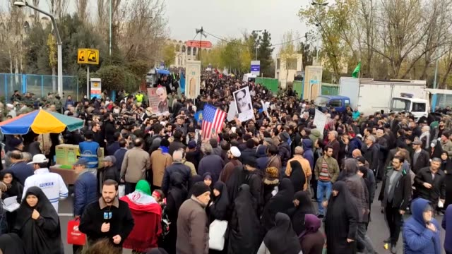 iranians stage a antius demonstration in which they chanted slogans after friday prayer in tehran on january 17 2020 - iran stock videos & royalty-free footage