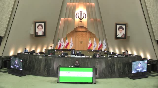 iran's conservative lawmakers, who have an overwhelming majority in the parliament, rejected holding negotiations with the us on the country's... - nuclear weapon stock videos & royalty-free footage