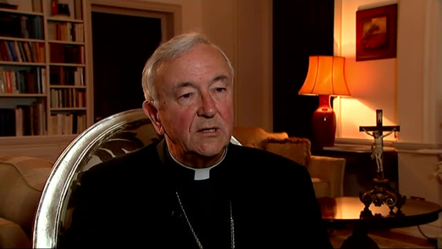 Cardinal Vincent Nichols interview ENGLAND London INT Cardinal Vincent Nichols interview SOT on events in Iraq on Christians being forced to leave...