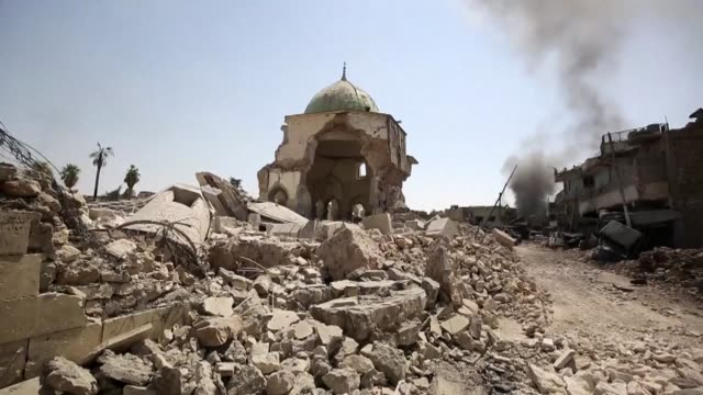 Iraq declared the Islamic State group's caliphate was coming to an end after it recaptured Mosul's iconic Nuri mosque Thursday three years to the day...