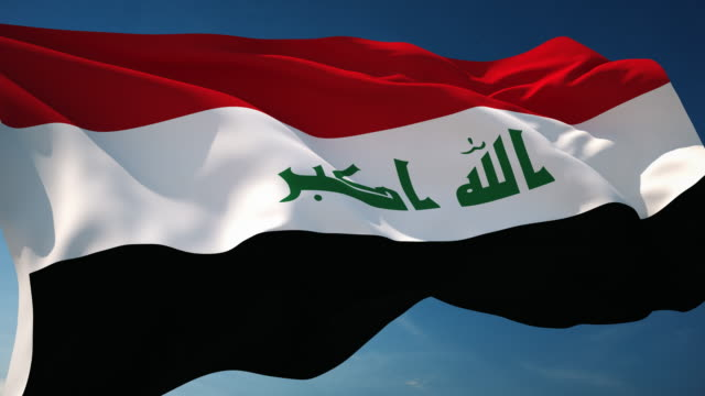 4k iraq flag - loopable - iraqi flag stock videos and b-roll footage