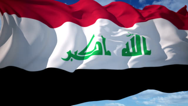 iraq flag - al qaida stock videos & royalty-free footage