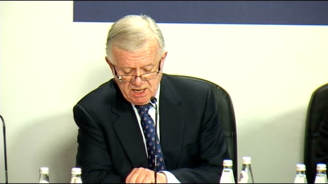 iraq inquiry banned from publishing secret documents; int sir john chilcot press conference sot - we sought disclosure of key extracts which... - request stock videos & royalty-free footage
