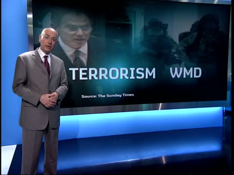 iraq memo leaked: tony blair leadership criticised; england: london: gir: i/c philippe sands interviewed sot - very striking that foreign secretary... - weapons of mass destruction stock videos & royalty-free footage