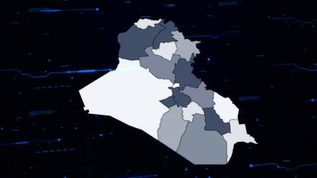 Iraq network map