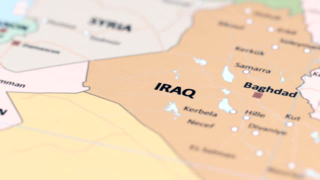 asia iraq on world map - baghdad stock videos & royalty-free footage