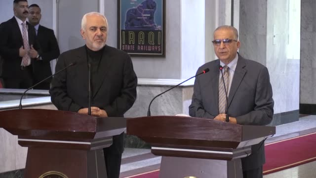 iraq stands by iran against u.s. sanctions, iraqi foreign minister mohamed alhakim said sunday. alhakim held talks in baghdad with his iranian... - nuclear energy点の映像素材/bロール