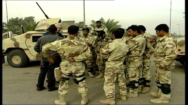 iraq study group calls for change in foreign policy location unknown snow chatting to iraqi special forces soldiers - iraq study group stock videos & royalty-free footage
