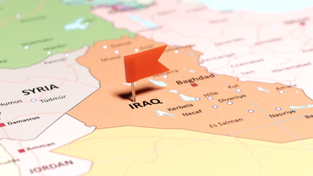 iraq with pin - basra stock videos & royalty-free footage
