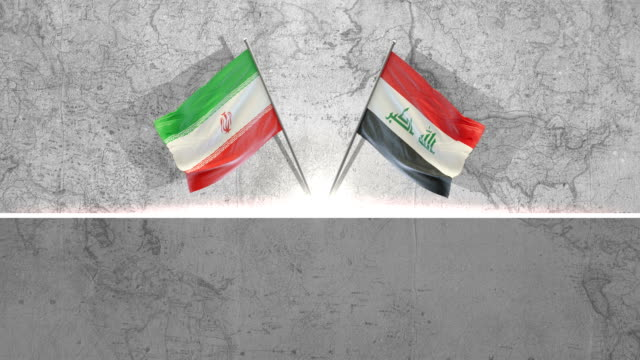 iraqi  and iranian  flags - iran stock videos & royalty-free footage