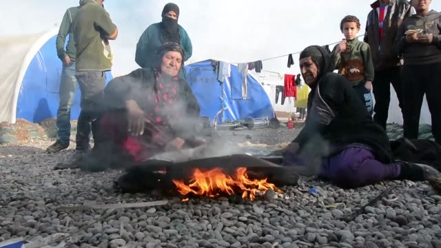 Iraqi civilians displaced by the battle to recapture Mosul are flocking to IDP camps around the city more than 100000 Iraqis have fled their homes...