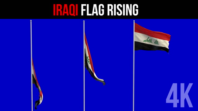 iraqi flag - iraqi flag stock videos and b-roll footage
