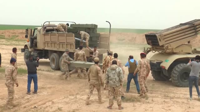 Iraqi forces backed by forces of Shia Hashdi Shabi Sunni Hashdi Vatani and Mosul operations command and USled coalition aircrafts launch an offensive...