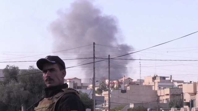 iraqi forces battling the islamic state group in mosul are approaching the tigris river which runs through the centre of the city according to the... - spokesman stock videos and b-roll footage