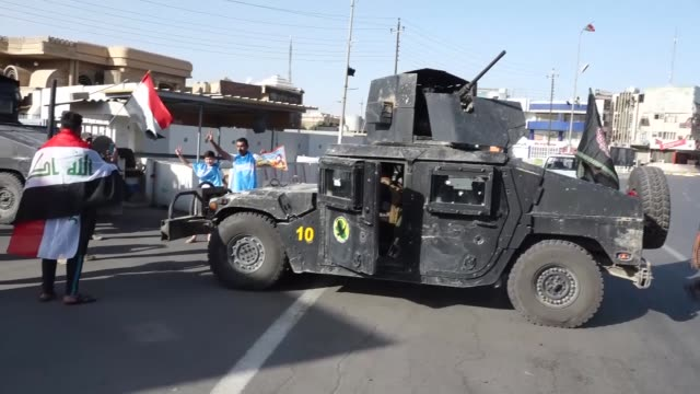 iraqi forces build up a barricade after securing the governor office building in kirkuk iraq on october 16 2017 the iraqi army on monday launched an... - barricade stock videos & royalty-free footage