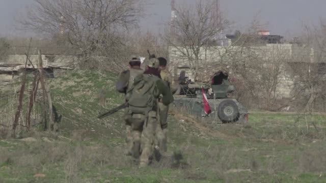 iraqi forces enter western mosul neighborhoods, a key stronghold in the shrinking caliphate of the islamic state group which replied with deadly... - enter key stock videos & royalty-free footage