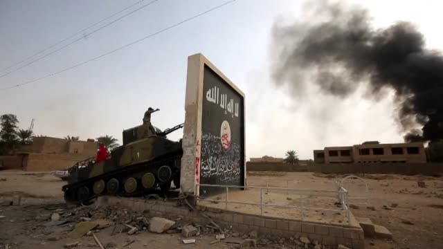 iraqi forces friday captured the biggest town under islamic state group control in iraq prime minister haider al abadi said driving another nail into... - iraqi prime minister stock videos & royalty-free footage