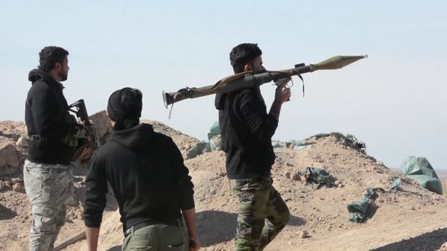 stockvideo's en b-roll-footage met iraqi forces launched a sweep through the western desert to flush out remaining islamic state group fighters on thursday an operation the prime... - isis