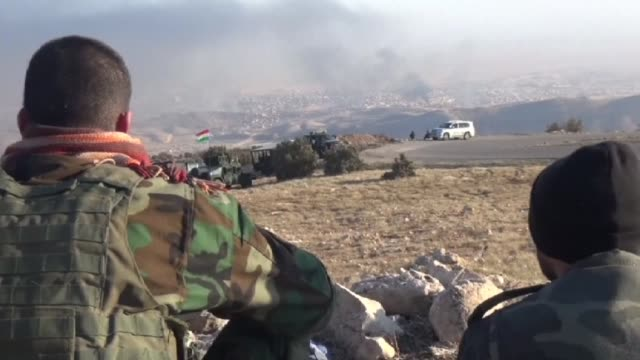 iraqi kurdish forces entered sinjar on friday in a major operation to retake the northern town from the islamic state jihadist group an afp... - sinjar stock videos & royalty-free footage