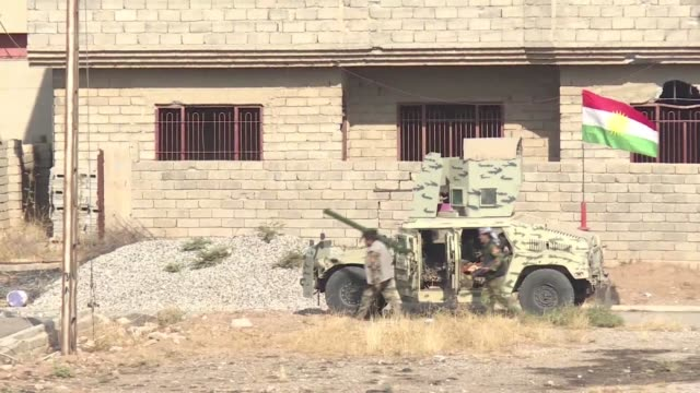 iraqi kurdish forces have seized the town of bashiqa near mosul from the islamic state group an official said tuesday as usbacked militia forces... - ninawa stock videos & royalty-free footage