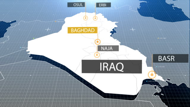 iraqi map - baghdad stock videos & royalty-free footage