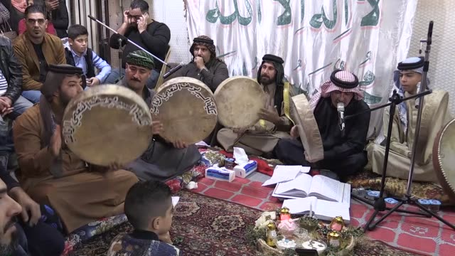 iraqi muslims gather at abu hanifa mosque to celebrate the birthday of prophet muhammad known as mawlid annabi in baghdad iraq on november 19 2018 - muhammad prophet stock videos & royalty-free footage