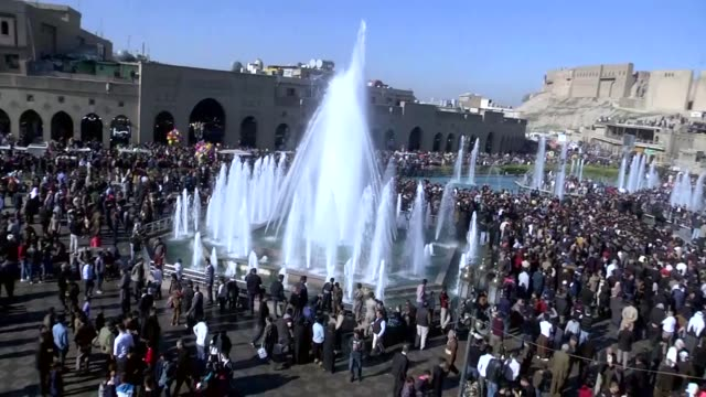 iraqi muslims gather at erbil citadel to celebrate the birthday of prophet muhammad known as mawlid annabi in erbil the administrative capital of... - muhammad prophet stock videos & royalty-free footage