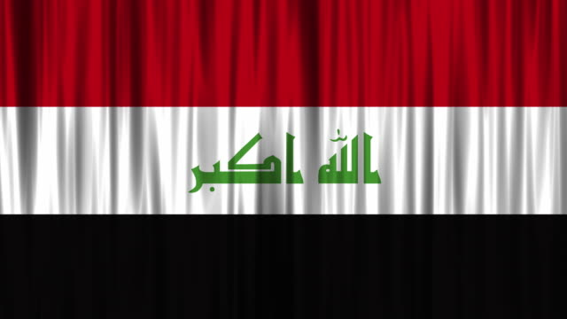 iraqi national flag (loopable) - iraqi flag stock videos and b-roll footage