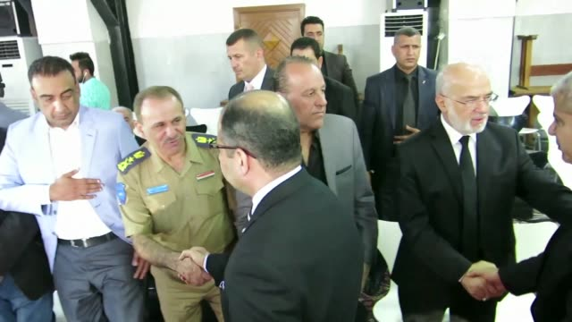 iraqi officials paid their respects on tuesday to relatives of ahmed chalabi a key lobbyist for the us led invasion of iraq blamed for providing... - weapons of mass destruction stock videos & royalty-free footage