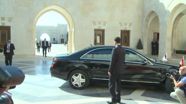 iraqi prime minister haidar alabadi meets jordan's king abdullah during his official visit in amman jordan on october 26 2014 footage by ahmed shoura... - iraqi prime minister stock videos & royalty-free footage