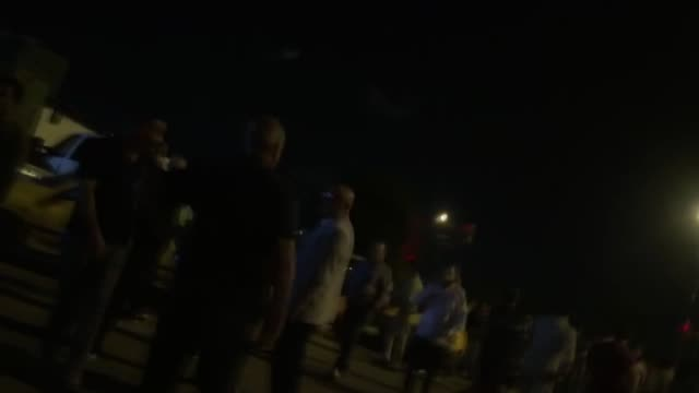iraqi protesters break into baghdad's fortified green zone on october 25, 2019. which houses key government buildings and foreign embassies. despite... - basra点の映像素材/bロール