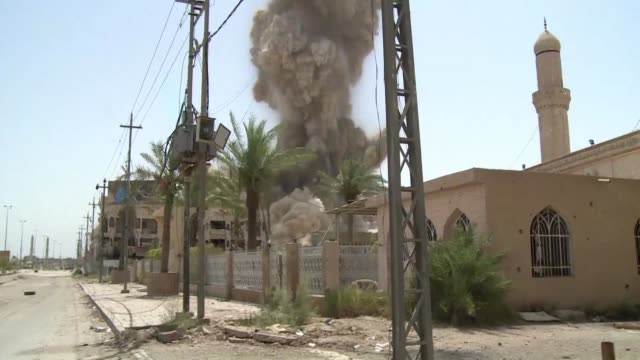 iraqi security forces continue to clear explosive devices left behind by islamic state group in fallujah and discovered prisons used by the jihadists... - al fallujah stock videos & royalty-free footage