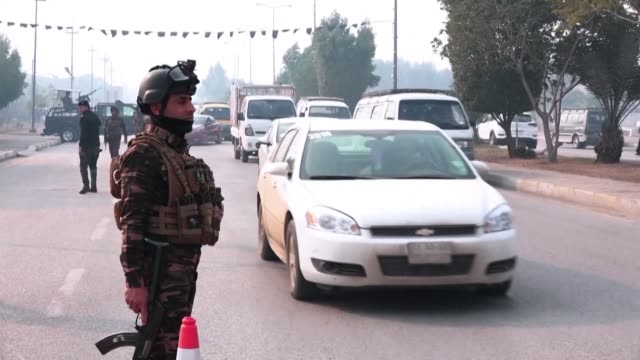 iraqi security forces set up checkpoints in the shrine city of karbala - karbala stock videos & royalty-free footage