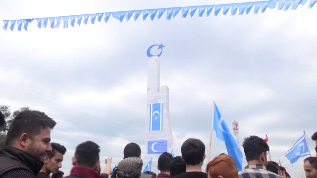 Iraqi Turkmen people attend a commemoration ceremony marking the 26th anniversary of the Altunkopru Massacre in Kirkuk Iraq on March 28 2017 Over 100...