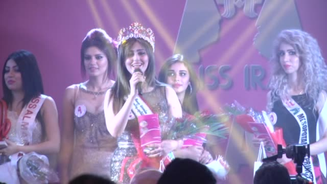 Iraqi women participate in the Miss Iraq 2015 beauty contest final in Baghdad on December 19 2015 Shaima Qassim has won the title of Miss Iraq that...