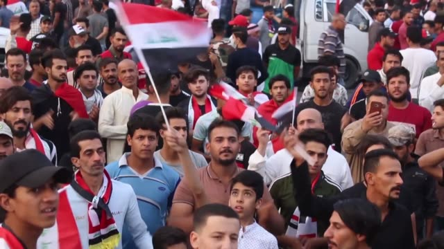 iraqis protest in the southern port city of basra after the country's top shiite authority ayatollah ali sistani said authorities must act quickly to... - shi'ite islam stock videos & royalty-free footage