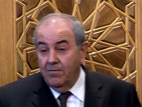 Iraq's former prime minister Iyad Allawi who is seeking a new term in office in upcoming elections visited neighbouring Syria on Thursday Allawi...