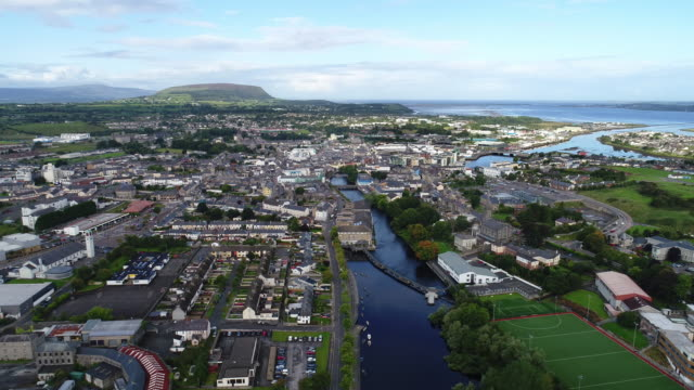 Ireland - Aerial view of Sligo town